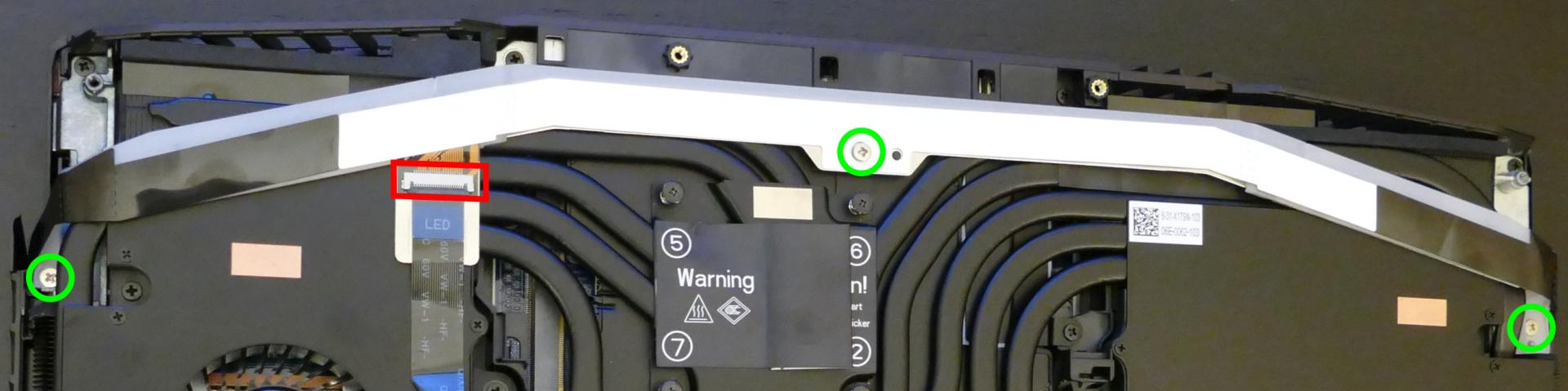 LED bar screws and connector