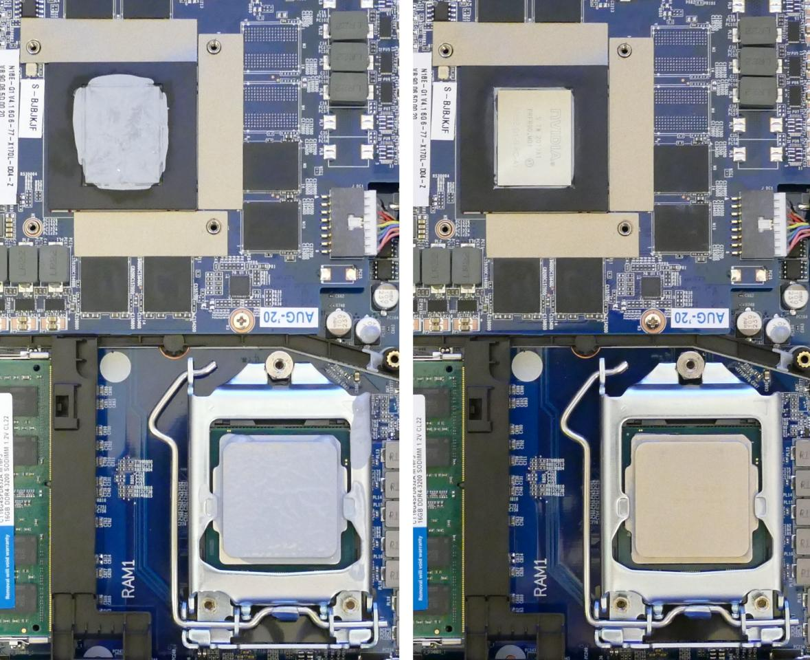 Thermal paste removal