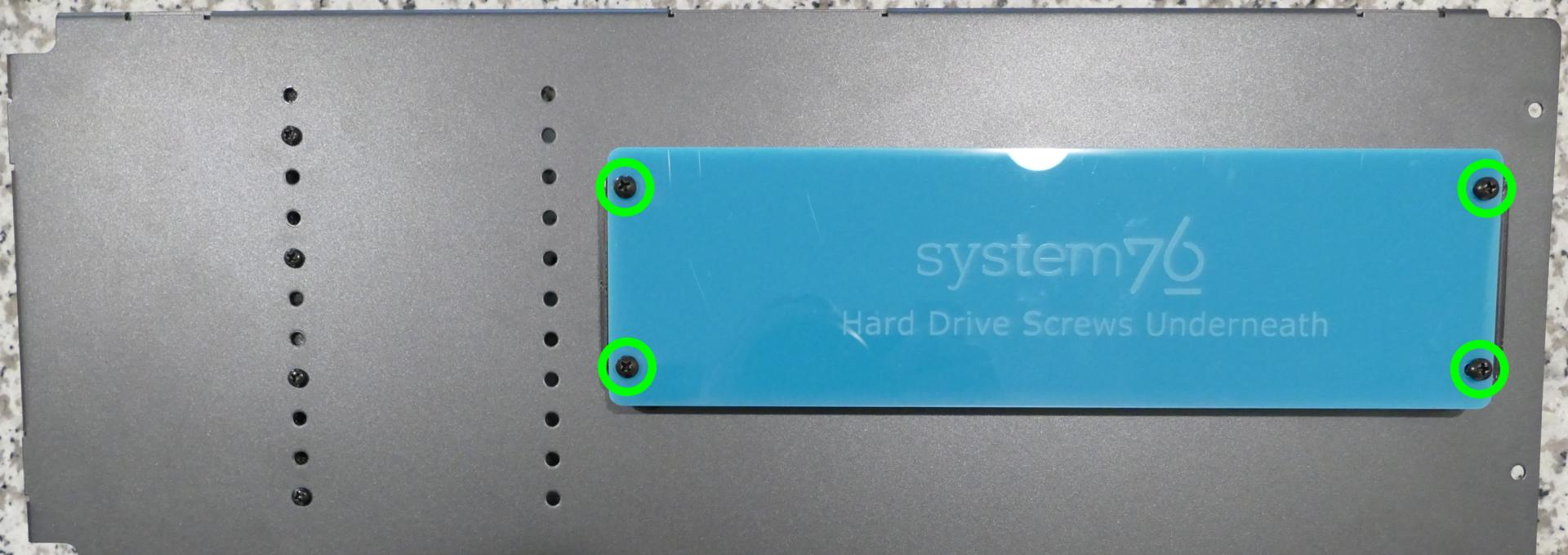Storage drive screw cover